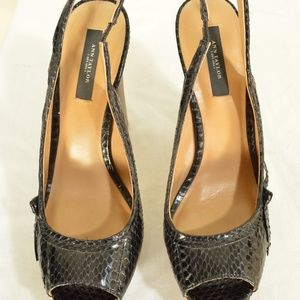 Ann Taylor Shoes - Ann Taylor shoes heels 9M platform black leather s